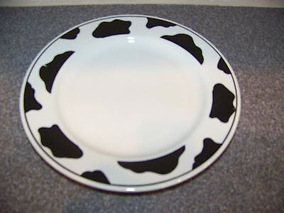 """Tienshan Stoneware ~ Spotted Cow ( Off-White ) ~ Salad Plate 7 3/4"""""""