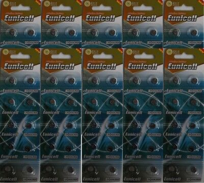 100 X EUNICELL AG4, SR626SW  1.5v ALKALINE BUTTON CELL WATCH BATTERIES/BATTERY
