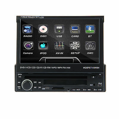 """Authentic 7""""HD Touchscreen 1Din Car CD DVD MP3 Player Stereo Bluetooth RDS USB"""
