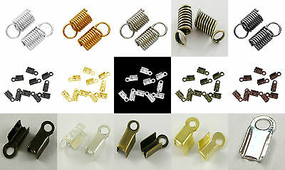 Necklace Findings - Cord End Tips & Coil Crimp End Tips, Buy 2 get 1 Free