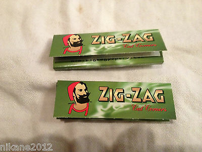 cigarette  papers green zig zag zigzag rolling filters smoking new quality cut