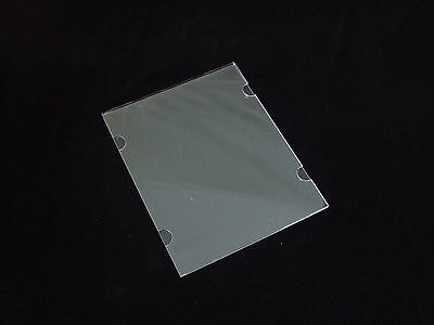 A4 CLEAR X 6  Poster Holder Acrylic Perspex-Wall/Cable Mount-Real Estate Windows