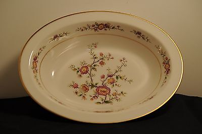 Noritake Ivory china, #7151 Asian song, one 10 by 7 1/2 inch oval serving bowl