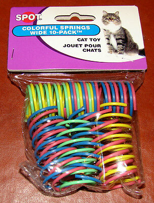 Ethical Pet Wide Colorful Springs Cat Toys 10-Pack * Spot Brand NEW!