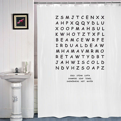 Novelty Word Search Shower Curtain