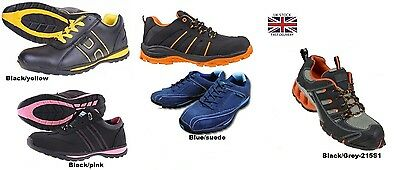 Mens Womens Safety Trainers Shoes Boots Work Steel Toe Cap  Size 4-13Uk New