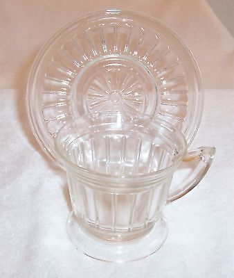 New Century Crystal Cup & Saucer Set