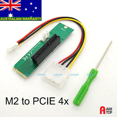 M.2 (NGFF) to PCIE Slot Converter Adapter for Motherboard Extra PCI-Express Slot