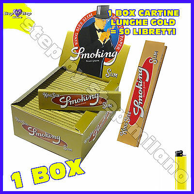 Cartine Smoking GOLD Lunghe King Size Slim Gold  box da 50 Libretti