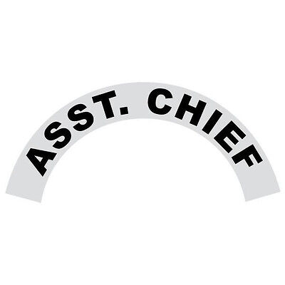 Asst. Chief Black Helmet Crescent Reflective Decal Sticker