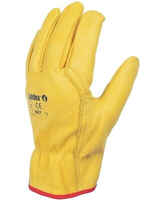 1 Pairs of Leather Drivers Work Gloves