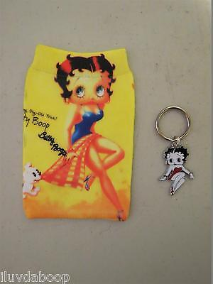 Betty Boop Phone Sock or Mp3 Pouch & BettyBoop Key Chain