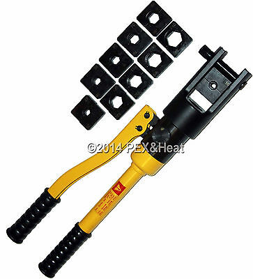Hydraulic Electrical Crimper Crimping Tool 10 Dies 10 Ton 500 MCM 240mm Cable