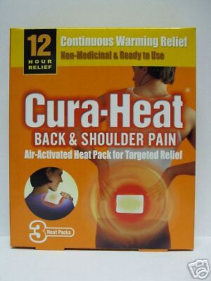 Cura-Heat Patches for Back and Shoulder Pain 3 Patches