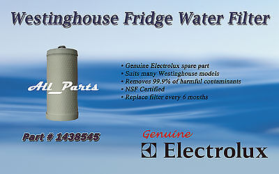 Water Filter Genuine Westinghouse Fridge 1438545 Rs643 Rs645