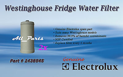 2 x WESTINGHOUSE GENUINE WATER FILTER FRIDGE 1438545 RS643 RS645 x 2