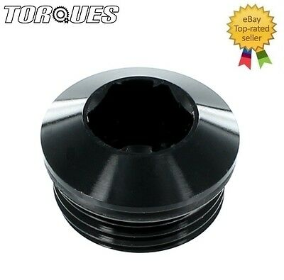 "AN -6 (-6AN ORB-6 9/16"" UNF) Round Head Port Plug with O ring In BLACK"