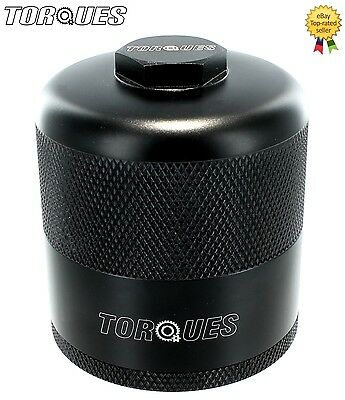 "Torques Billet Aluminium Inspection Re-Usable Oil Filter In Black 3/4"" UNF"