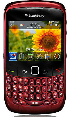 Verizon Blackberry RED 8530 NEW Curve Cell Phone WIFI Smartphone Wireless