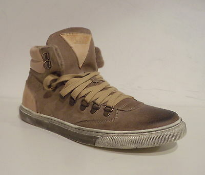 Ylati Scarpa-Sneakers Opus Pelle Color Antilope Made In Italy c068ae3546a