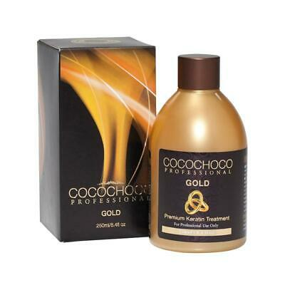 Cocochoco Gold Brazilian Keratin Treatment Blow Dry Hair Straightening 250Ml + S
