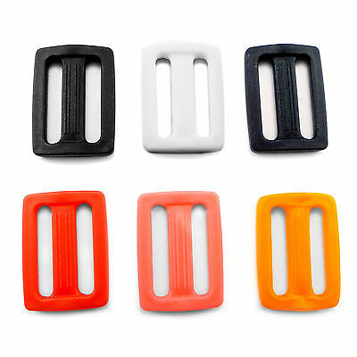 "25 mm / 1"" - plastic DELRIN buckle slider 3 bar slider for webbing strap AP1"