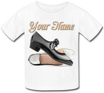 Tap Dance Dancing Shoes Personalised Kids T-Shirt  *Great Child's Named Gift *