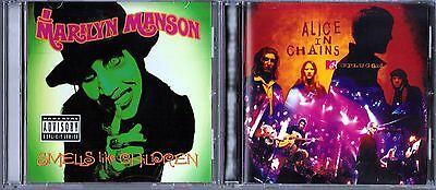 Smells Like Children [PA] by Marilyn Manson (CD)& Unplugged; Alice in Chains(CD)