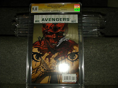 Ultimate Comics Avengers #1  Variant Cgc 9.8 Ss 3X Mark Millar Carlos Pacheco