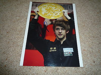 JUDD TRUMP signed Autogramm 20x28 cm In Person SNOOKER