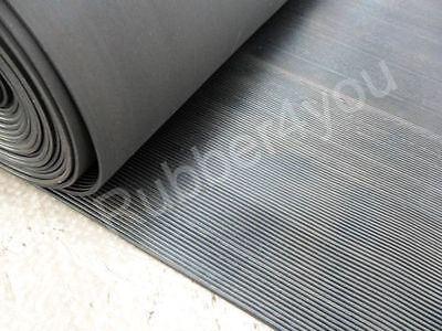Dog Kennel Cage Pen Floor FINE Ribbed Corrugated Rubber Matting 5m x 1.2m x 3mm