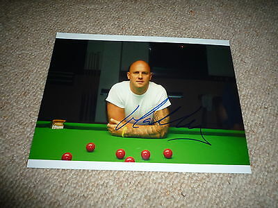 MARK KING signed Autogramm 20x28 cm In Person SNOOKER