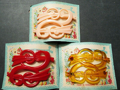 2 Stunning yet Effective Vintage Hair Slides -Choose from 3 Colours