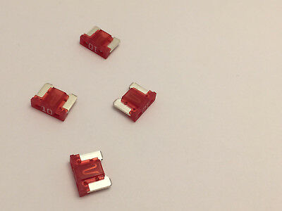 4 X 10 Amp Micro fuse Low profile Red 10A ATM Micro Blade