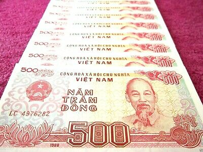 Viet Nam Paper Money Vietnam Currency 10 PCS Lot 500 Vietnamese Dong Each