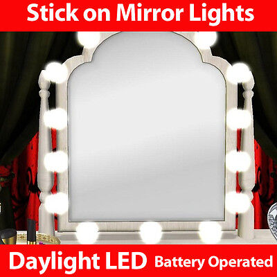 Mirror LED Stick on Lights -dressing table light lamp lights mirror make up hair