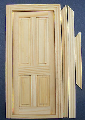 1:12 Scale Pack Of 4 Wooden 4 Panel Doors Dolls House Miniature DIY Accessory