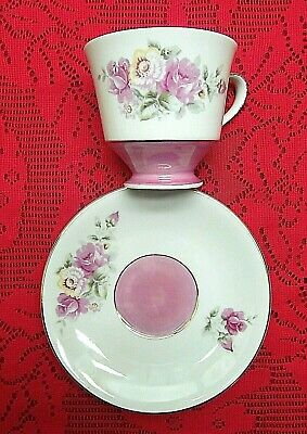 Vintage Bone China Norleans Teacup & Saucer W/  Pink Roses Flowers Made In Japan