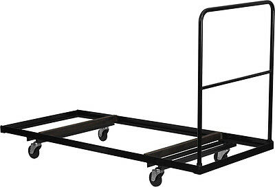 Flash Furniture Black Folding Table Dolly for 30''W x 72''D Rectangular...