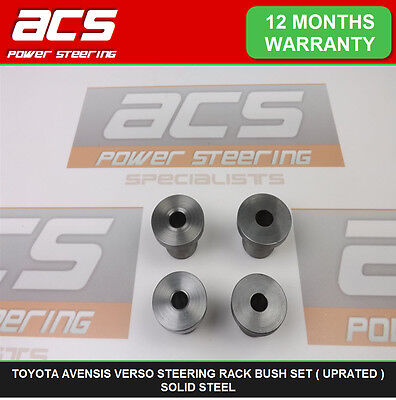 Toyota Avensis Verso Power Steering Rack Bushes Set ( Uprated ) Solid Steel