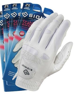 3 x BIONIC Ladies Stable Grip Gloves - White Leather - NEW Style - Right & Left