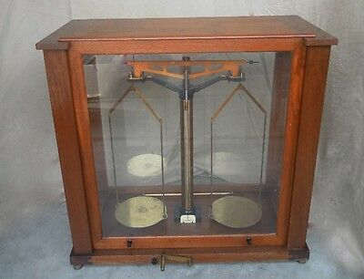 Christian Becker Inc. Large Scale in wood and glass case