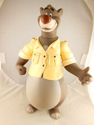 "Vintage Disney Baloo Doll 12""  Pvc Tale Spinner Playmates Jungle Book"