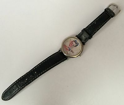 2004 Betty Boop Wrist Watch Black Strap Japan Movement AS-IS