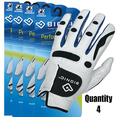 4 Bionic Men's Performance Gloves/ Premium Leather Tour Quality. Right & Left Hd