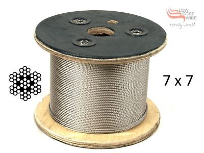 316 Grade Stainless Steel 1.2mm 49 Strand Wire for Fishing Trace 305 metre