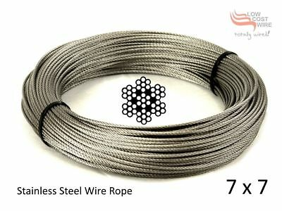 Wire Rope 10 Meter - G316 Stainless Steel 1.2mm 49 Strand 86kg Line
