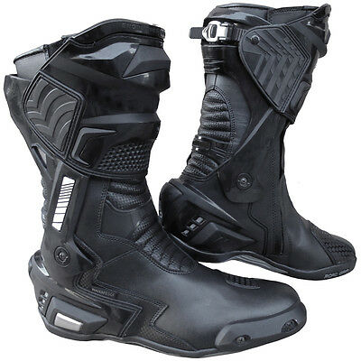 New GP3 Motorcycle Sports Racing Track Performance All Genuine Leather Boots 10