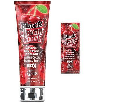 Fiesta Sun Black Cherry Crush Dark Tanning Sunbed Lotion with Bronzing Beads