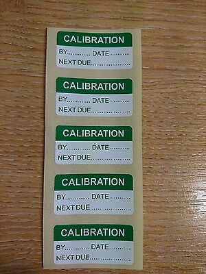 Write On Calibration Labels (Stickers) 20mm x 40mm